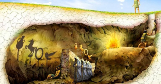 The myth (or allegory) of Plato's cave | Wellnessbeam