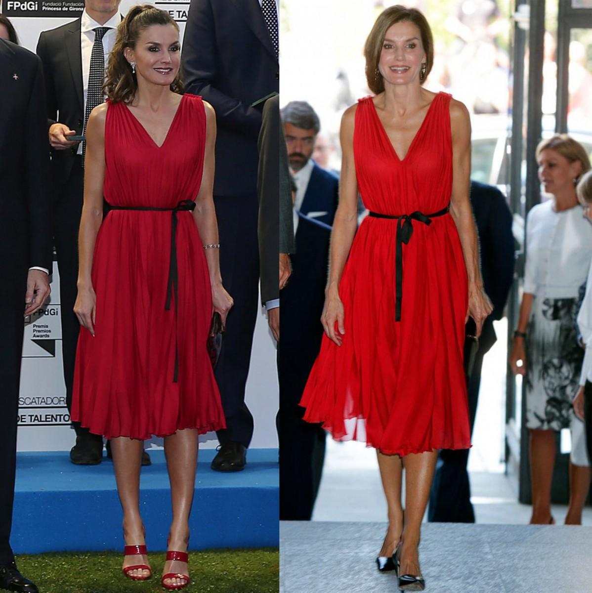 Carolina Herrera's red dress that Queen Letizia has worn at various events
