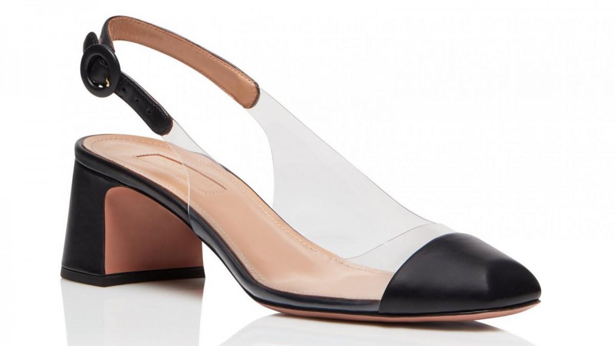 Aquazzura's 'Optic Pump 50' shoe for 550 euros.