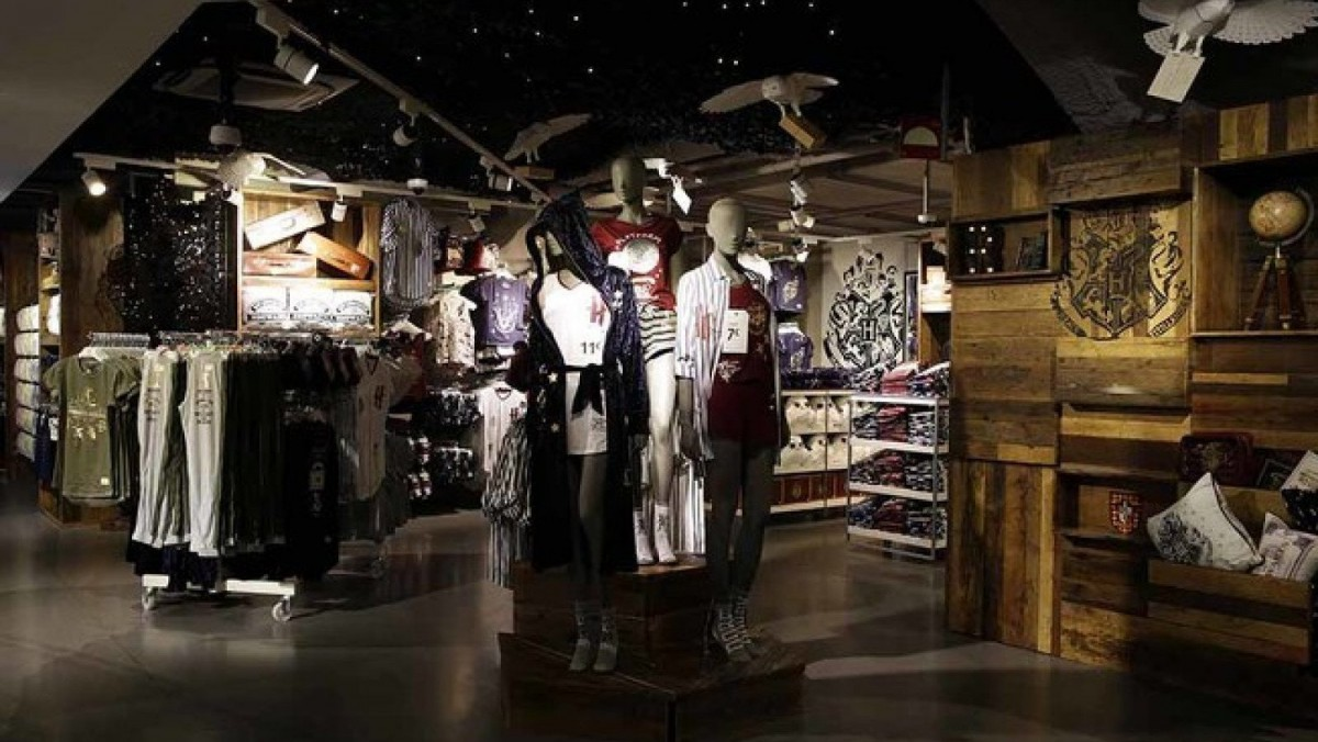 One of the areas of the first Harry Potter themed store at Primark de Gran Vía in Madrid