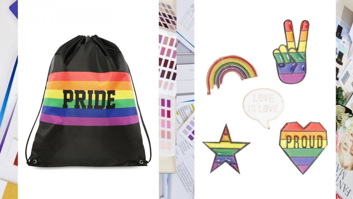 Some of the accessories that can be found in Primark's 'Pride 2018' collection