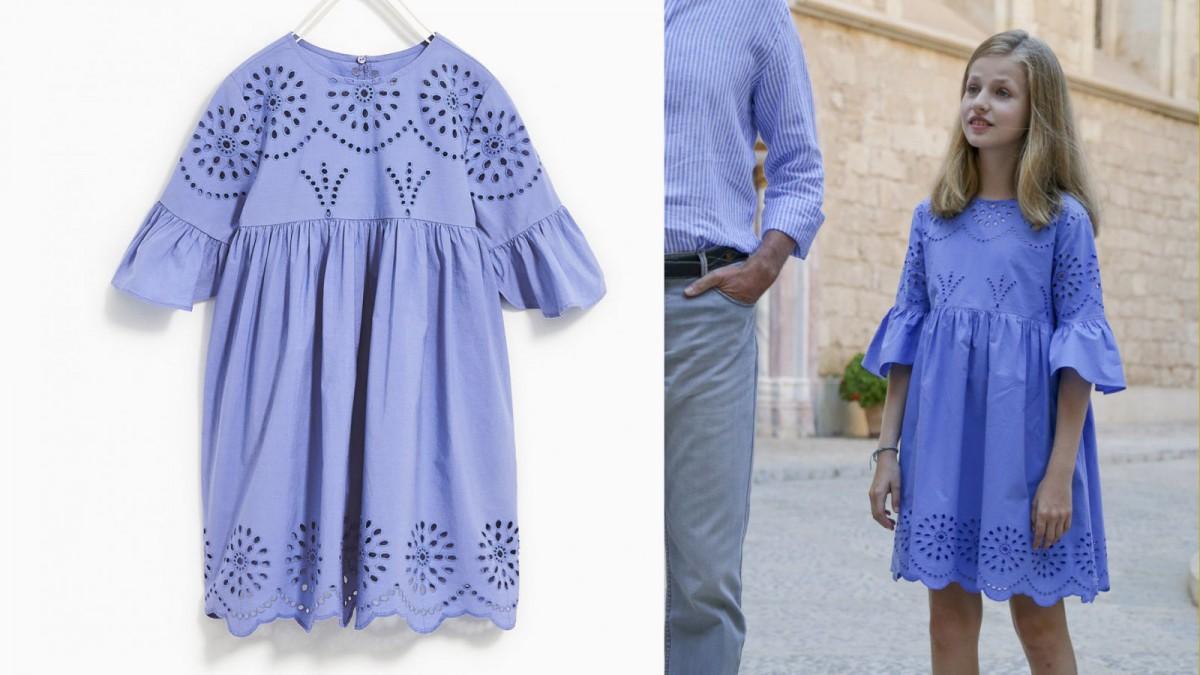 Zara's blue dress of Princess Leonor, for 22,95 euros