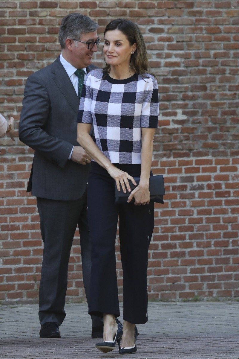 The style chosen by Queen Letizia for the meeting of the Board of Trustees of the Residencia de Estudiantes
