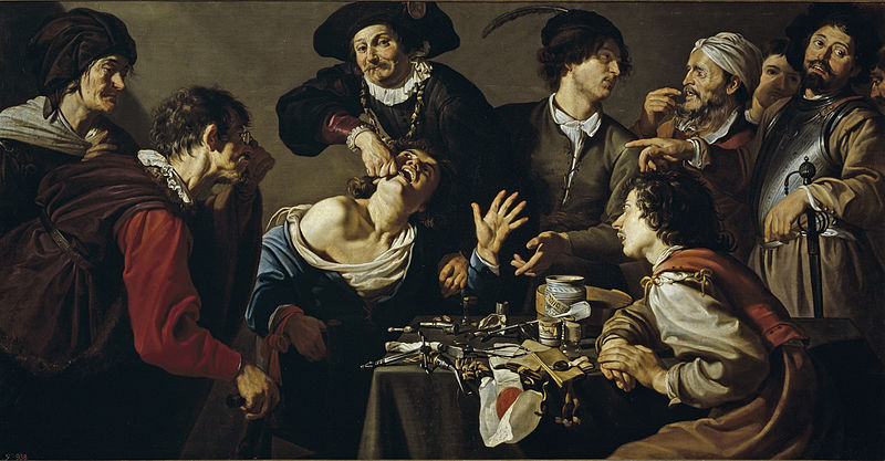 800px Theodoor Rombouts The quack tooth puller